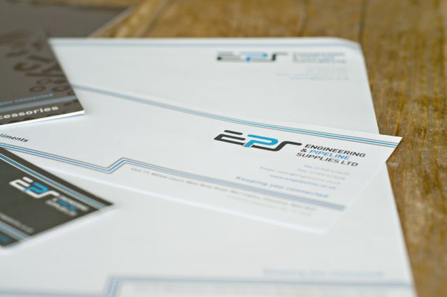Stationery design using logo created for EPS.